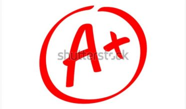 سرخ رنگ میں لکھا ہوا اے پلس گریڈ