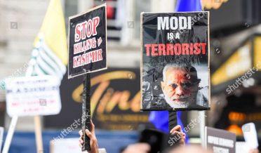 کشمیریوں کا بھارتی وزیراعظم نریندرمودی کے خلاف احتجاج