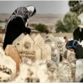 کرکوک،عراق میں مسلمان خواتین قبرستان میں