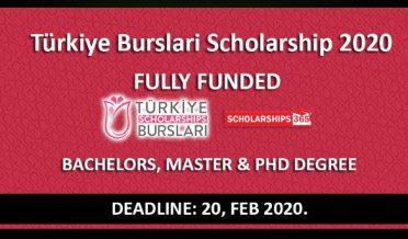 ترکی حکومت کا فل فنڈڈ سکالرشپ