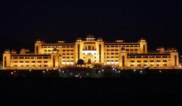 وزیراعظم ہائوس، اسلام آباد ،پاکستان رات کا منظر