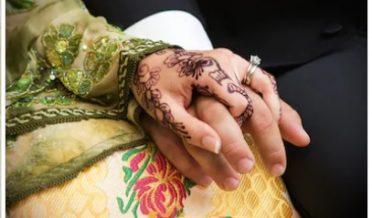 شوہر اور بیوی کے ہاتھ